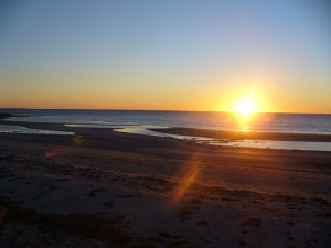 moonta bay sunset